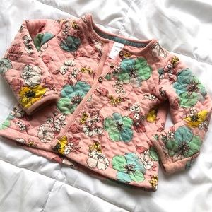 Floral quilted sweater
